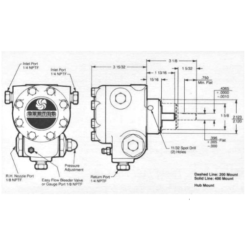 Suntec J6 Series Single Stage Fuel Unit Parts Illustration