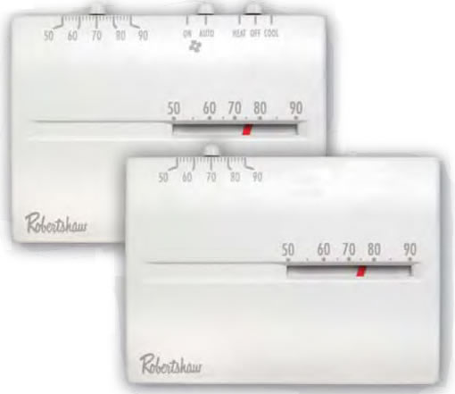 Robertshaw 9200H Deluxe Series Mechanical Low Voltage Thermostat