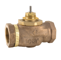 "Barber Colman (Schneider Electric) VB-7214-0-4-10 Venta 2-Way Globe Valve Body Brass Trim Union 1-1/2"" Sweat Normally Open 28Cv"