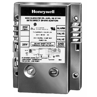 Honeywell S87D1012 Dual Rod Direct Spark Ignition Control 11-Second Trial and Lockout