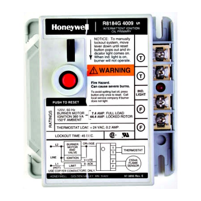 Honeywell R8184G4009 Protectorelay Oil Burner Control