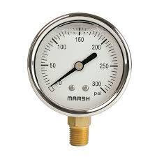 "Marsh / Bellofram 0-30"" W.C. Pressure Gauge"