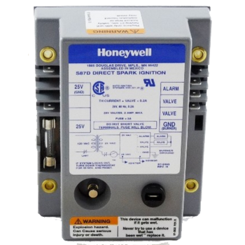 Honeywell S87D1038 Dual Rod Direct Spark Ignition Control 21-Second Trial and Lockout