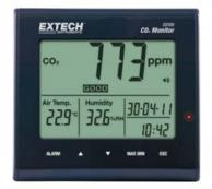 Extech CO100 Desktop Indoor Air Quality CO<sub>2</sub> Monitor